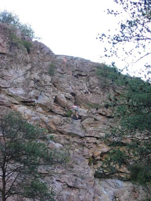 Climber on one of the cliffs...