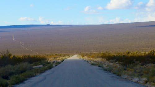 Desert Road in Mojave National Wildlife Preserve