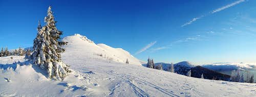 Panorama from mountain hut Chata pod Chlebom