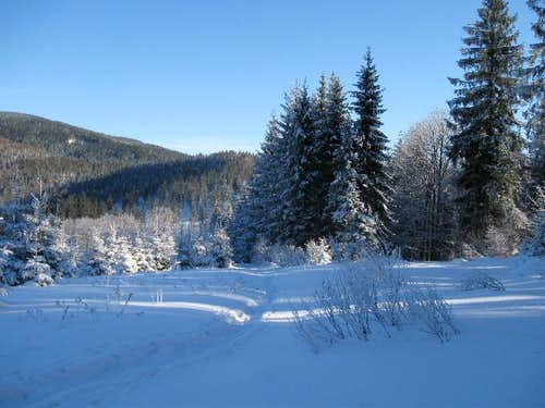 Polish Mountains' winter scenery