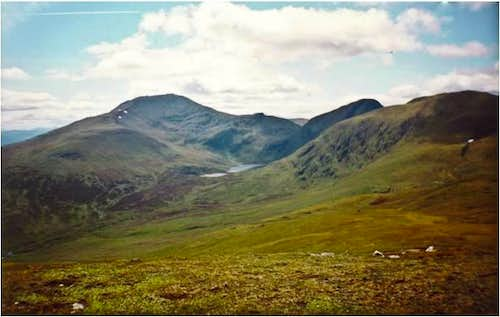 Ben Lawers from Meall Greigh.