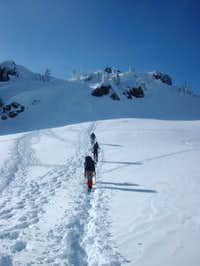 Climbers approaching Mt....