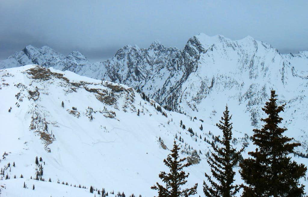 Cottonwood Ridge from Alta Supreme Lift