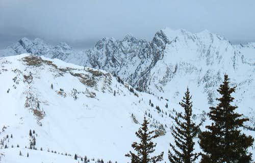 Cottonwood Ridge from Alta Supreme Lift
