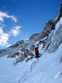 On the NE-face of the Aiguille Carrée