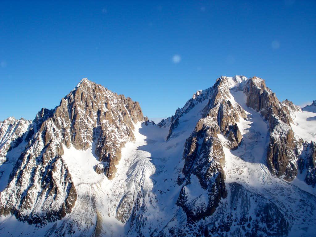 Aiguille du Chardonnet and Aiguille d'Argentière