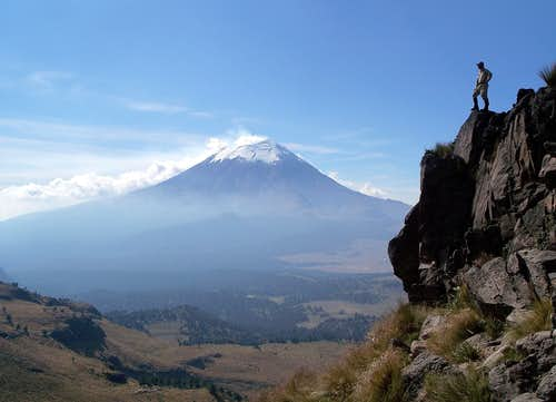 Popocatepetl from Izta\'s portillo
