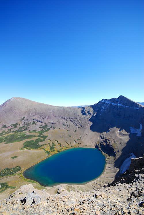 Crowfeet Mountain to the East