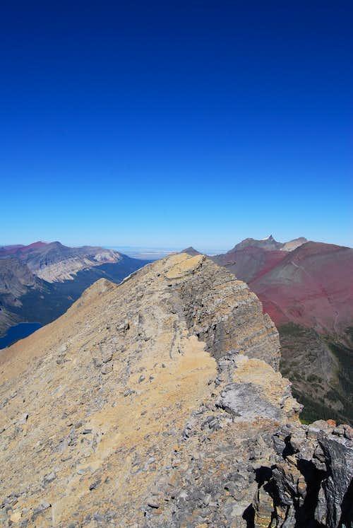 northern ridge of Crowfeet Mountain