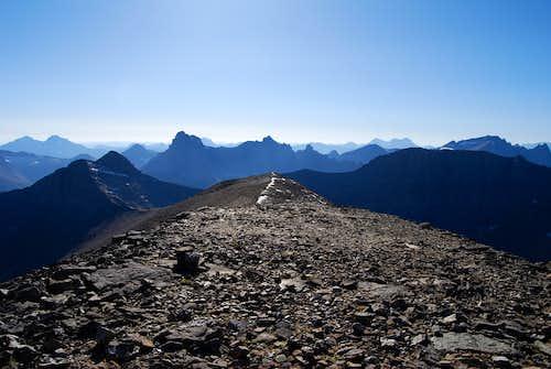 western view from Apikuni Mountain