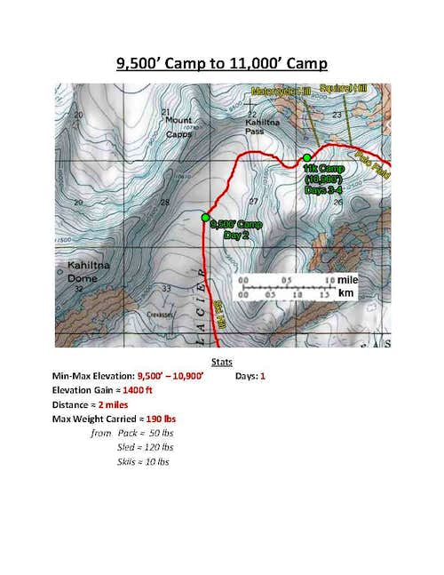 Denali W Buttress Route - Section 3