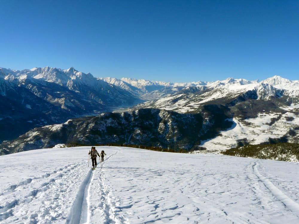 Ski-mountaineering on Monte Zerbion