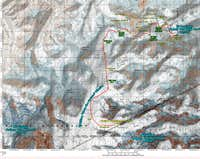 Denali s West Buttress - Annotated Topo Map