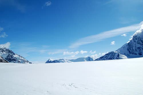 The Horizon of the Kahiltna Glacier