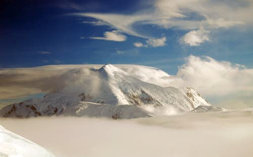 Mt Foraker and Clouds