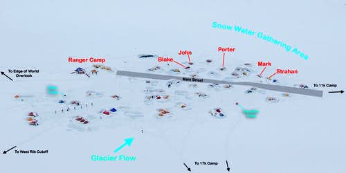 Layout of the 14k Camp