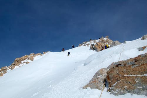 Ascending the West Buttress Above 16k