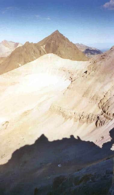 The distinctive summit block...