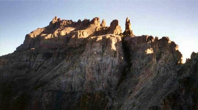 The summit massif of...