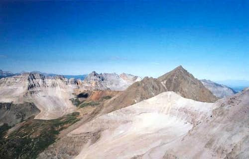 L-R: Gilpin Peak, Dallas...