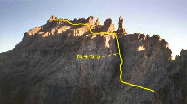 Detail of the route on the...