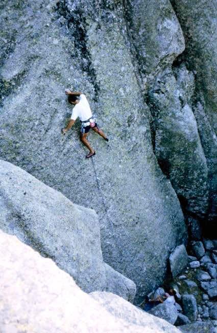 Climbing a 7b line somewhere...