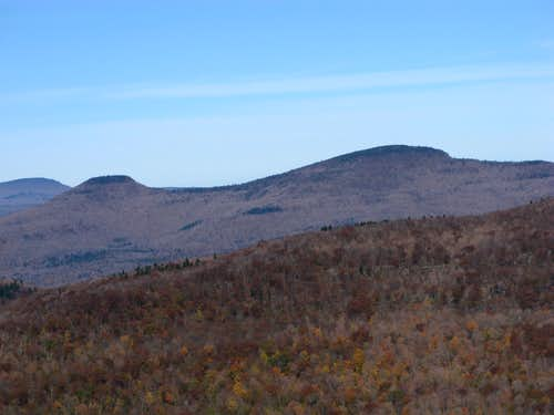 Kaaterskill High Peak and Round Top from Overlook Mountain