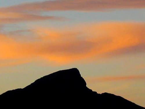 Silhouette of Devil's Peak at...