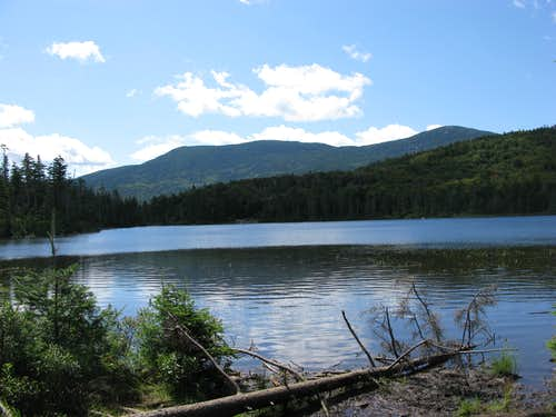 South and North Kinsman rise behind Lonesome Lake