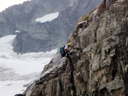 Rapping the waterfall slabs