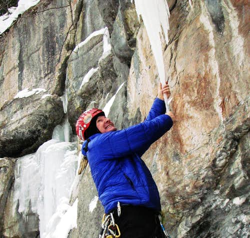 icicle climbing