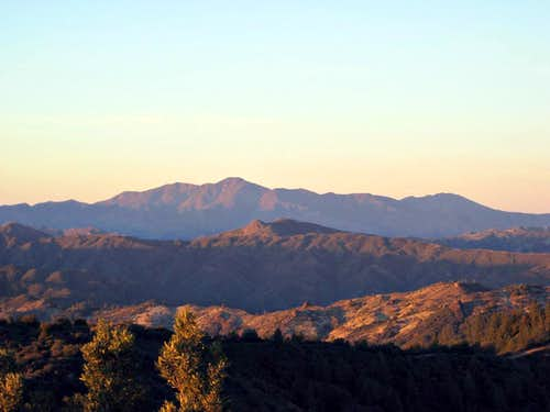 Junipero Serra from Silver Peak Wilderness