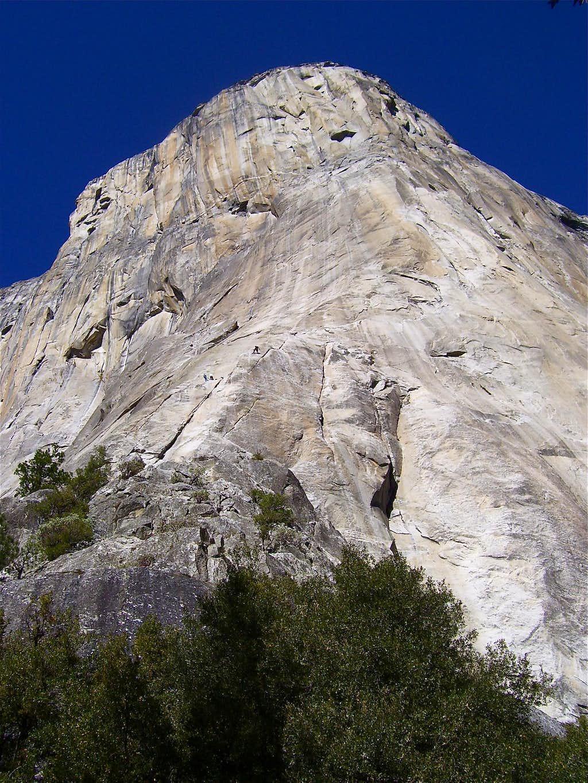 3000 feet of solid granite looming above.