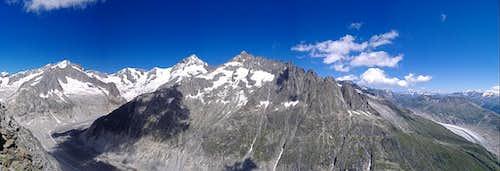 Aletschhorn to Aletsch Tongue