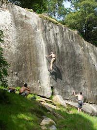 Climbers on Ten Minute Crack.