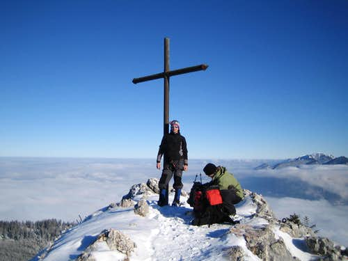 Summit shot Ettaler Manndl at 03rd Jan 2009