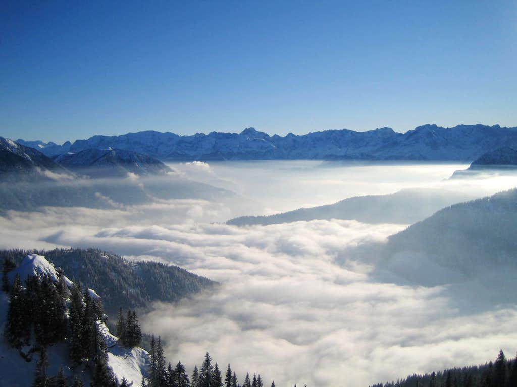 Wetterstein over the clouds