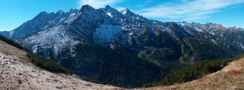 The (very) High Tatras, from Široké Sedlo
