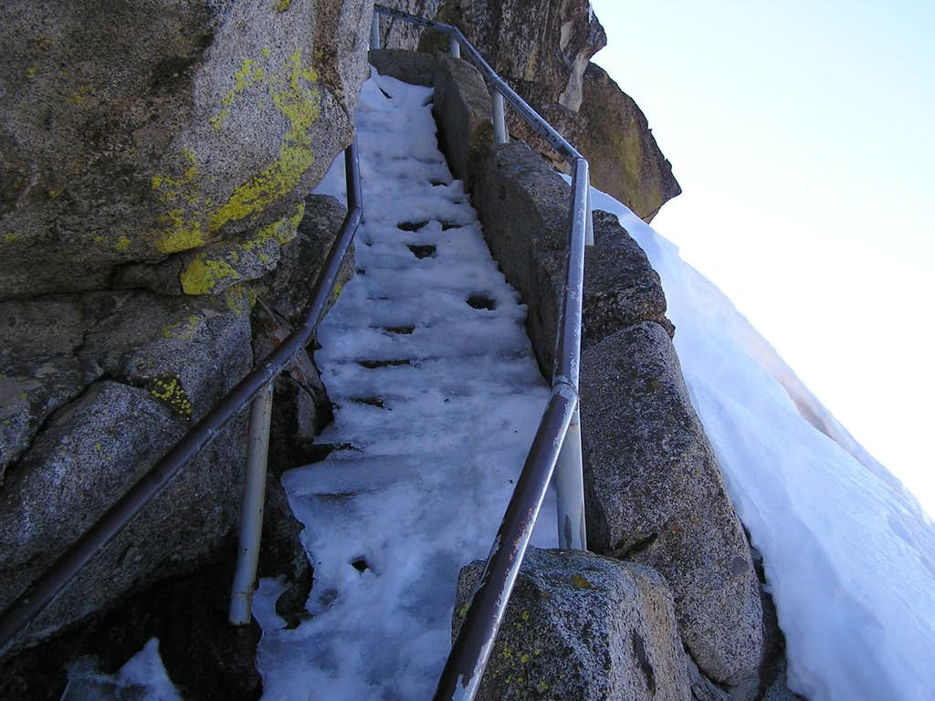 Icy steps on Moro Rock