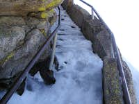 Another view of icy steps on Moro Rock