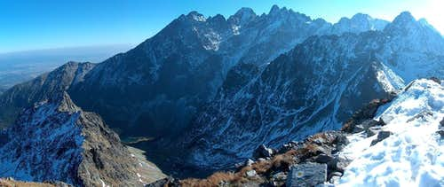 From the summit of Jahňací Štít, looking to the rest of the High Tatras
