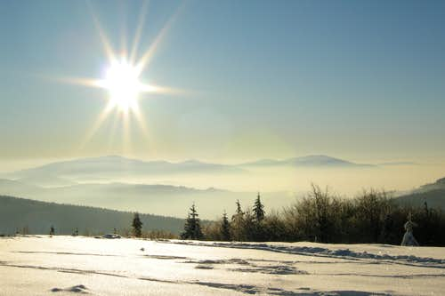 Beskidy winter