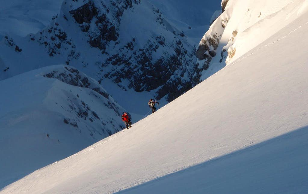 Climbing north-west slopes