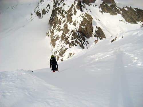 Ubiña north couloir. Last part.