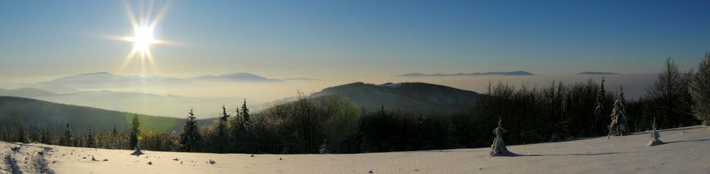 Jałowiec winter panorama