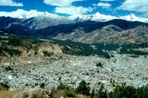 Huaraz seen from the W...