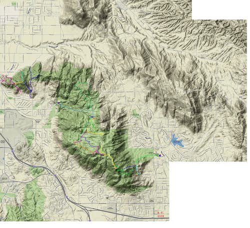 Box Springs Mountains Map