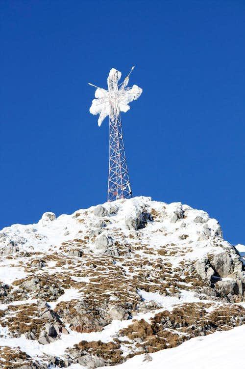 Giewont summit cross