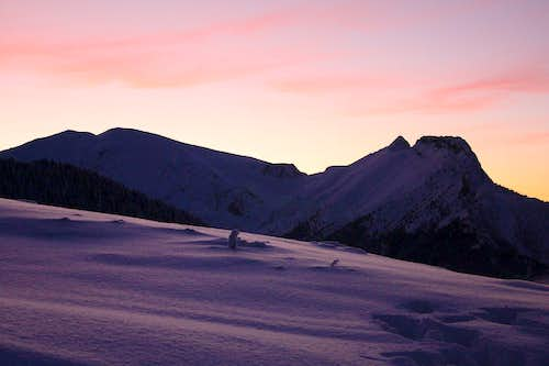 Giewont in sunset