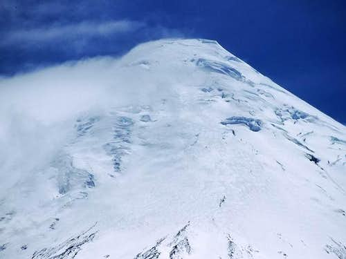 The top of Volcán Osorno seen...